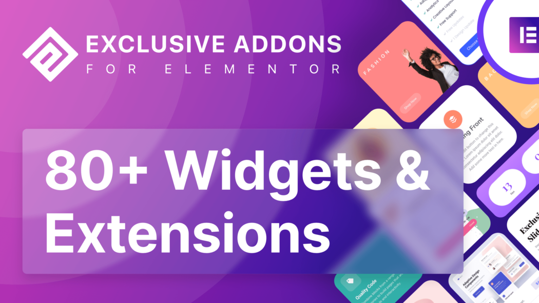 exclusive addons as a best elementor addons for your WordPress site