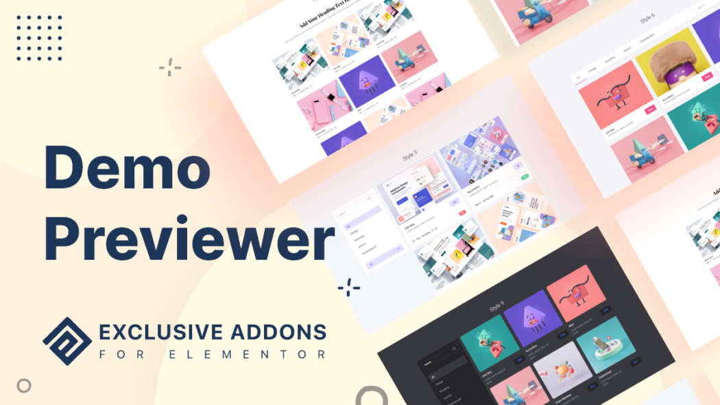 Demo Previewer elementor widget
