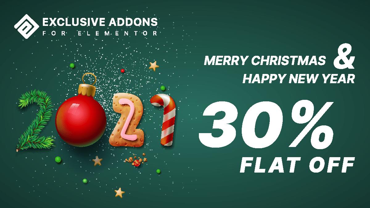 New Year Deals 2021 Elementor Addons