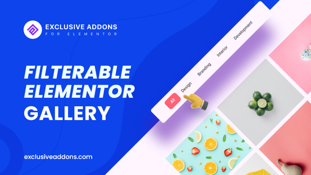 filterable gallery for elementor