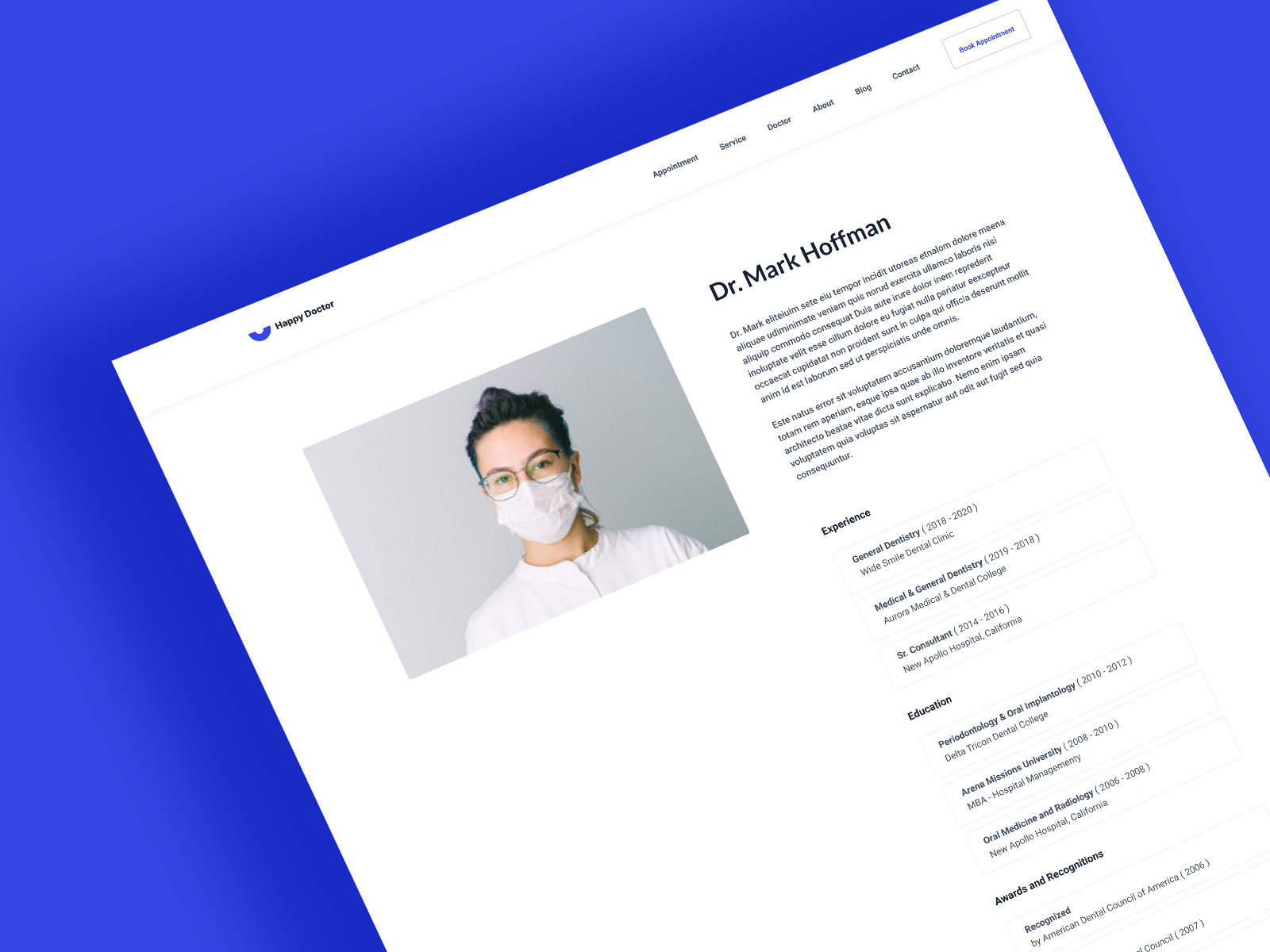 Appointment Doctor Profile Page