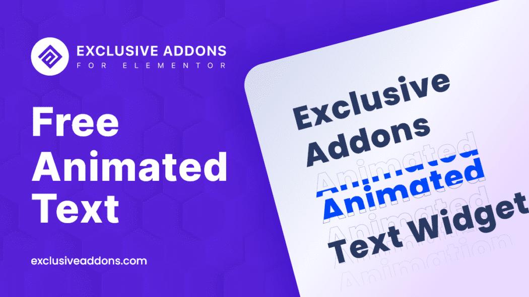 free animated text foe elementor