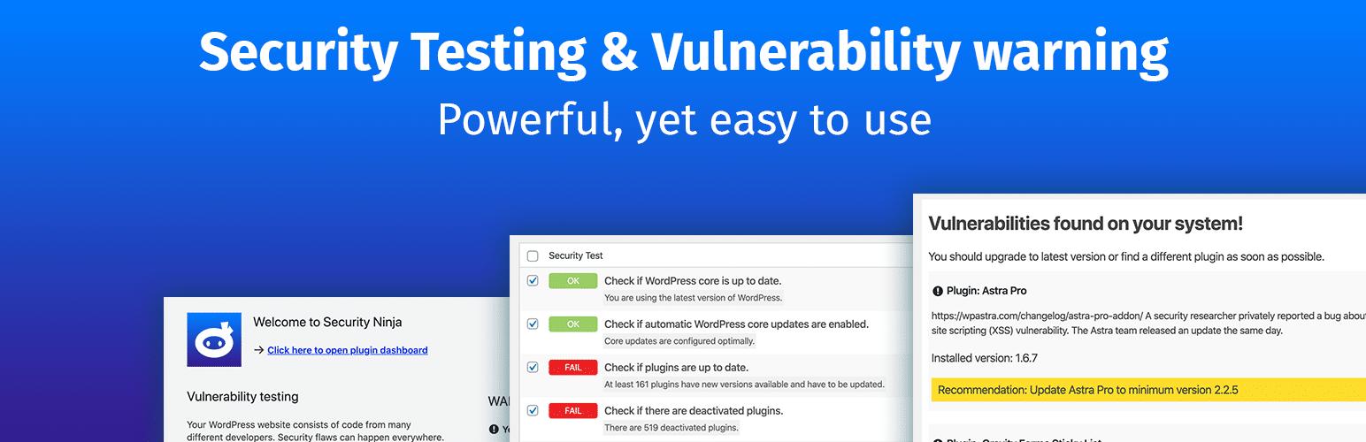 Security Ninja plugin for wordpress