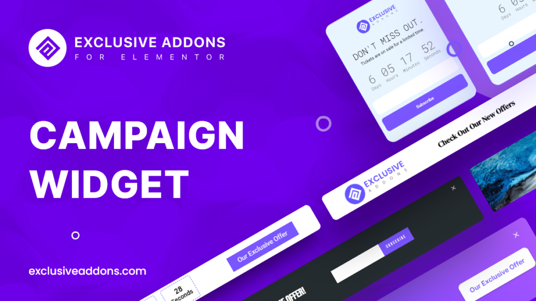 elementor campaign widget for wordpress site to create promobox