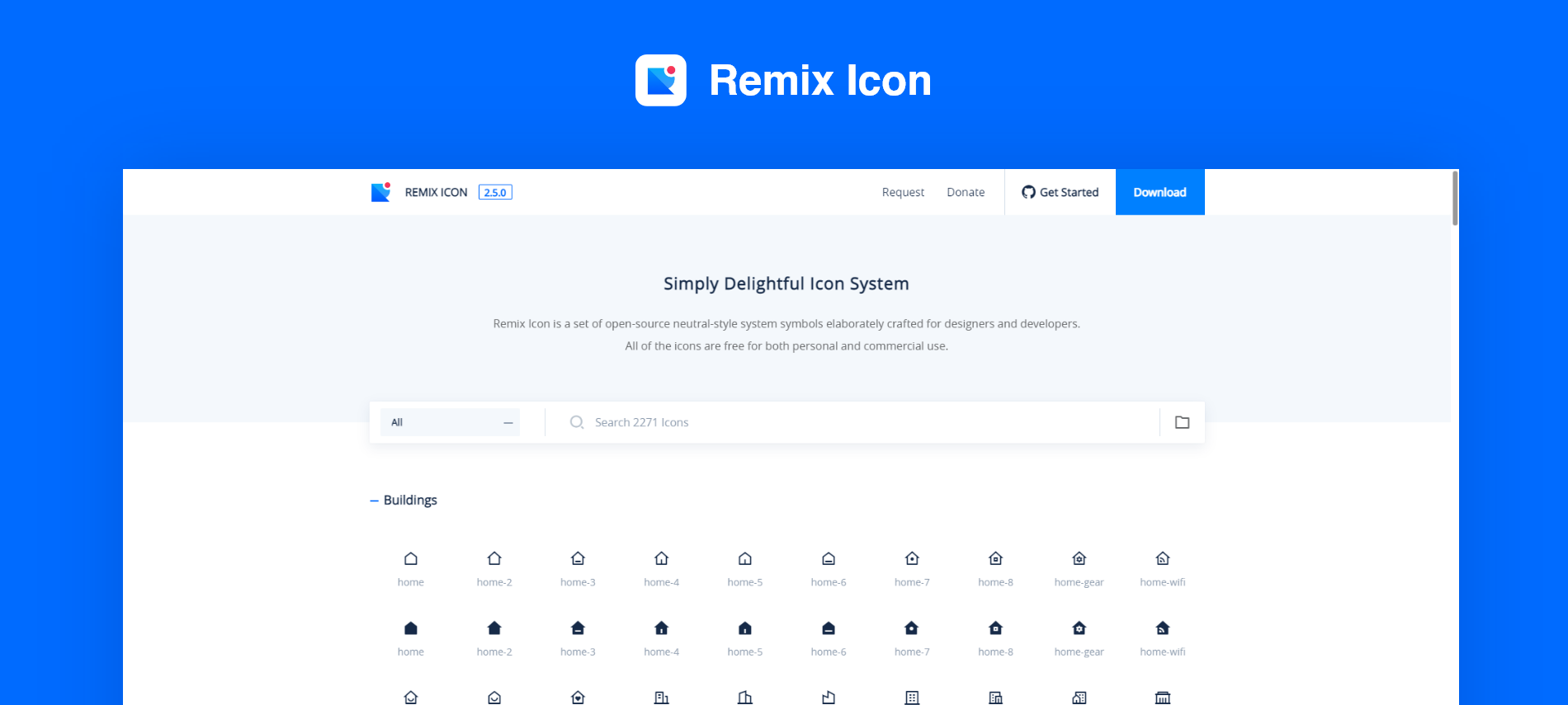 elementor Remix Icon