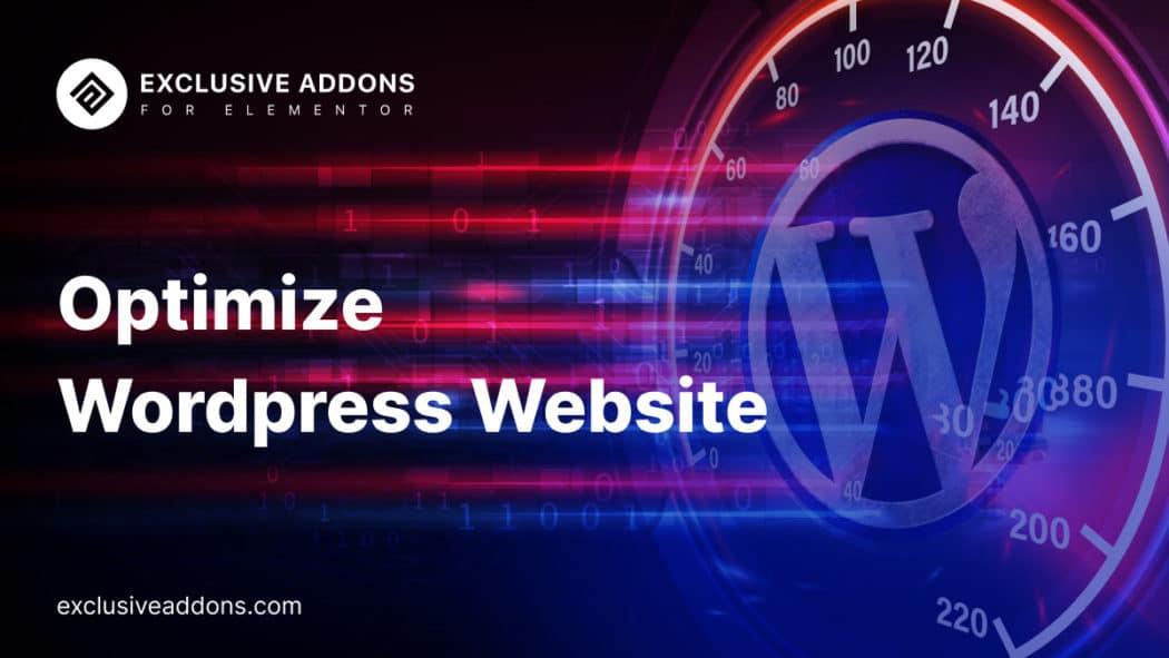 how to optimize wordPress site