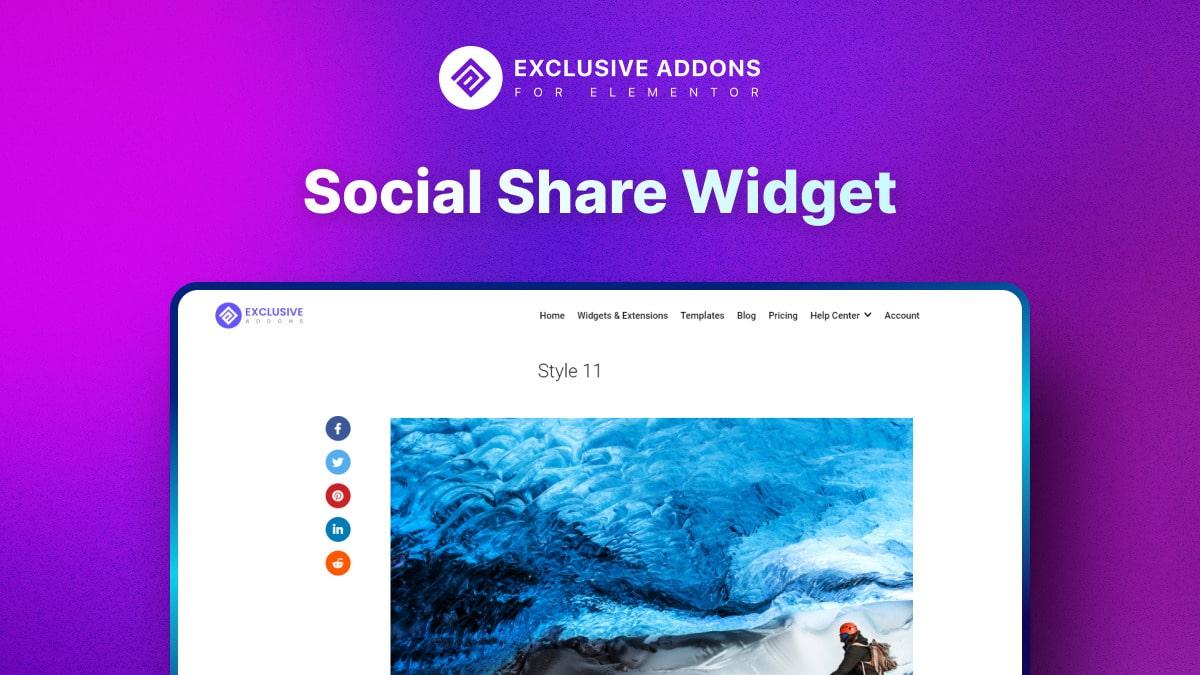 Social Share WIdget - Social Media Widget