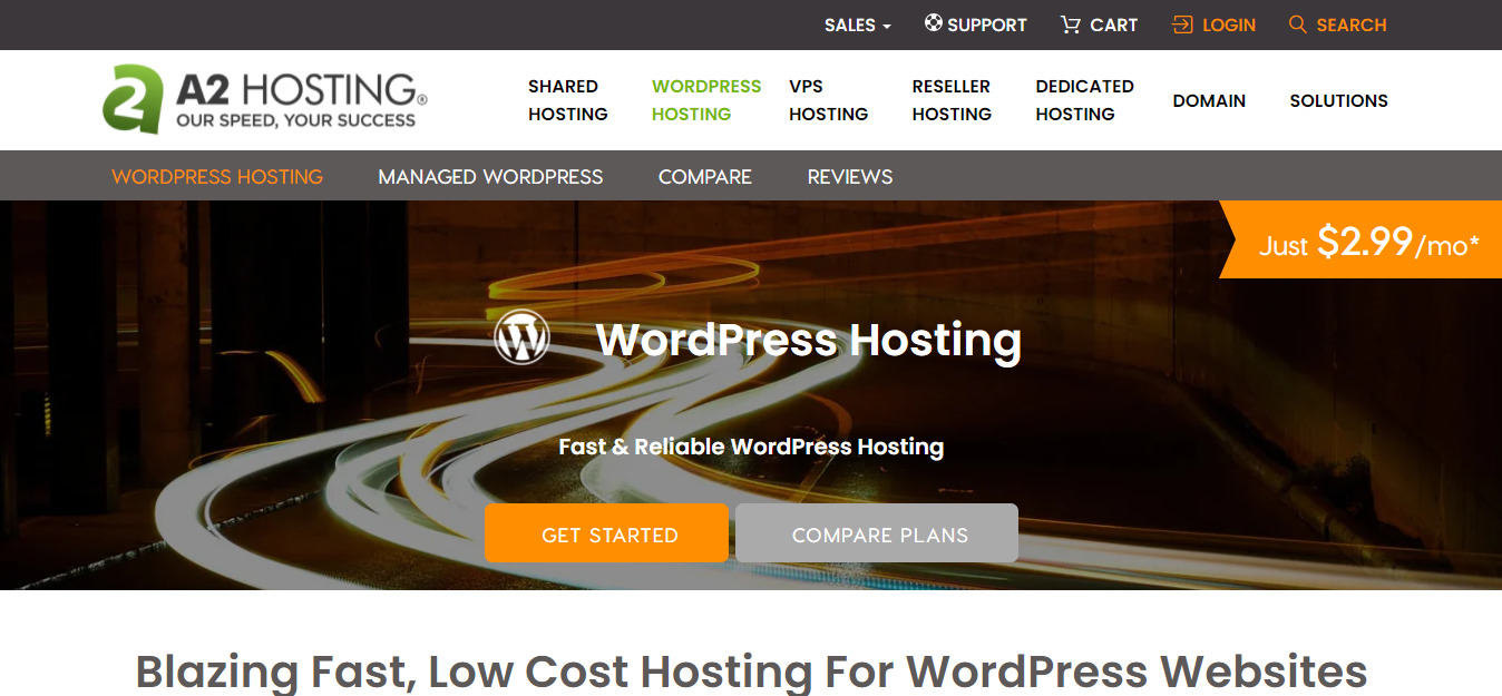 A2 Hosting for wordpress