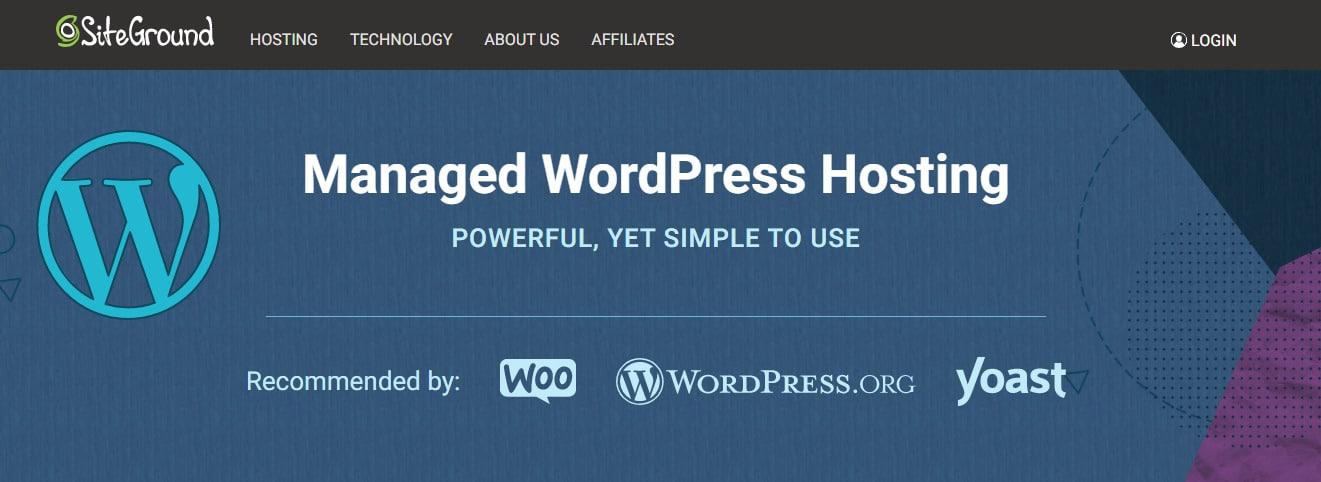 Site Ground Hosting for WordPress