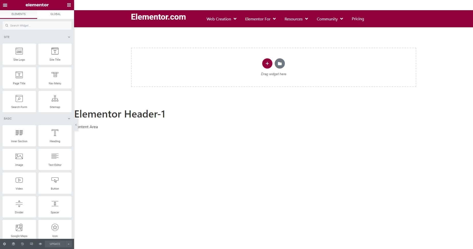 Elementor Header-5